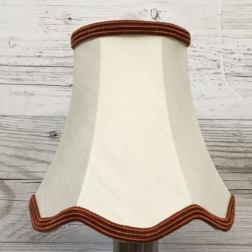 Scalloped Candle Shade Cream
